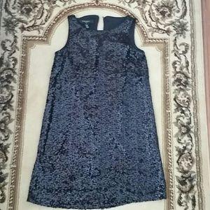 Nine West black sequin dress